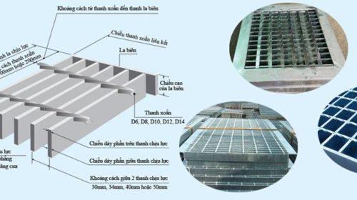 Thông tin kỹ thuật của tấm sàn grating